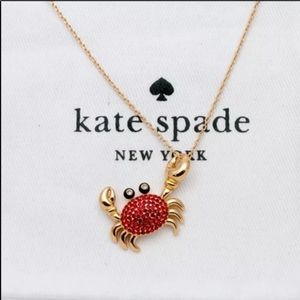 Kate Spade NY shore thing pave crab necklace